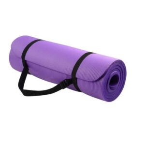 TAPETE DE IOGA COM ALÇA DUPLA – Tapete de ioga, com faixa de velcro, e alça, para carregar melhor. Feito em EVA.