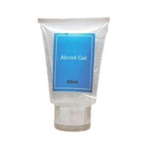 ÁLCOOL GEL 60ML – Álcool em gel higienizador para mãos, hidratante, embalado em bisnaga plástica de 60 ml com tampa flip
