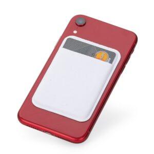 PORTA CARTÕES LYCRA – Adesivo porta cartão com revestimento de lycra.