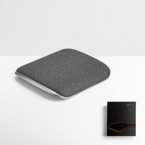 CARREGADOR WIRELESS – carregador wireless que funde liga de zinco e tecido.