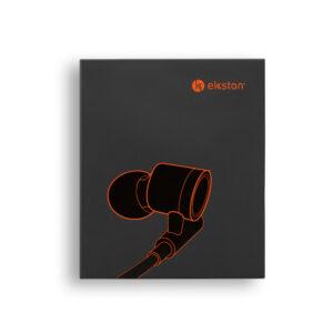 FONE DE OUVIDO – fone de ouvido em metal e ABS de design moderno,
