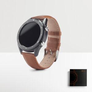 RELÓGIO DIGITAL – relógio inteligente com bracelete em pele que se adequa a diferentes ocasiões