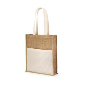 SACOLA – Bolso frontal 100% algodão: 140 g/m². Alças de 65 cm.