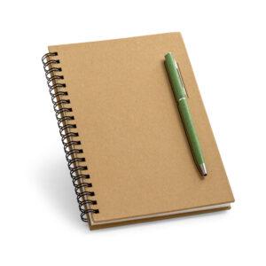 CADERNO – Capa dura. Papel kraft. 70 folhas não pautadas papel pedra.