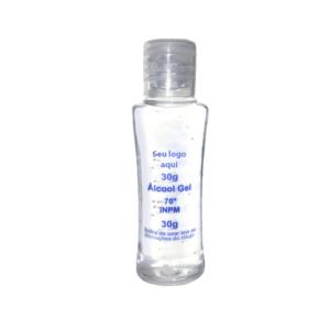 ÁLCOOL GEL 30ML – Álcool gel antisséptico higienizador para as mãos.