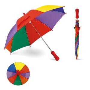 GUARDA CHUVA INFANTIL – Guarda-chuva para criança. Poliéster.