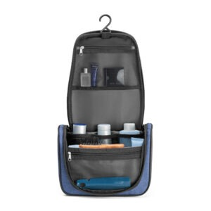 NECESSAIRE –  Com vários bolsos interiores e gancho de pendurar.