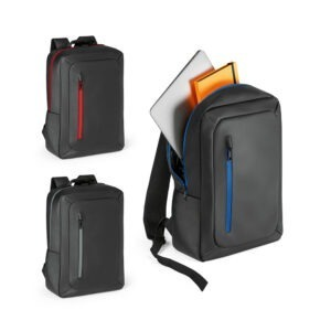 """MOCHILA PARA NOTEBOOK –  Impermeável. Compartimento principal almofadado para notebook até 15.6""""."""