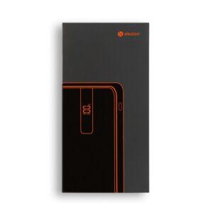 BATERIA PORTÁTIL – bateria portátil forrada a tecido numa estrutura em ABS com acabamento em borracha, 10.000 mAh