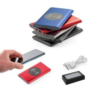 BATERIA PORTÁTIL – Bateria portátil e carregador wireless.