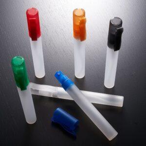 SPRAY HIGIENIZADOR –  10ml plástico com tampa e bastão branco fosco.