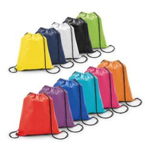 Sacola tipo mochila, com alças para carregar