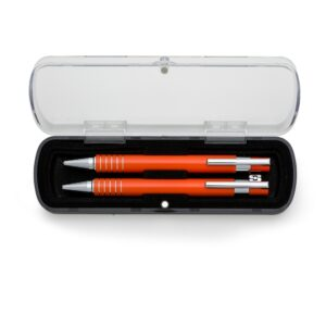 Conjunto de caneta e lapiseira semi-metal