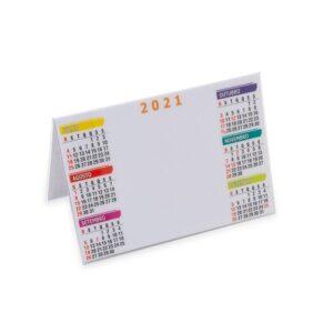 Calendário plástico de mesa